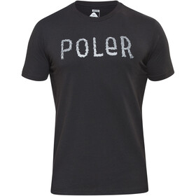 POLER Furry Font SS Shirt Men, black